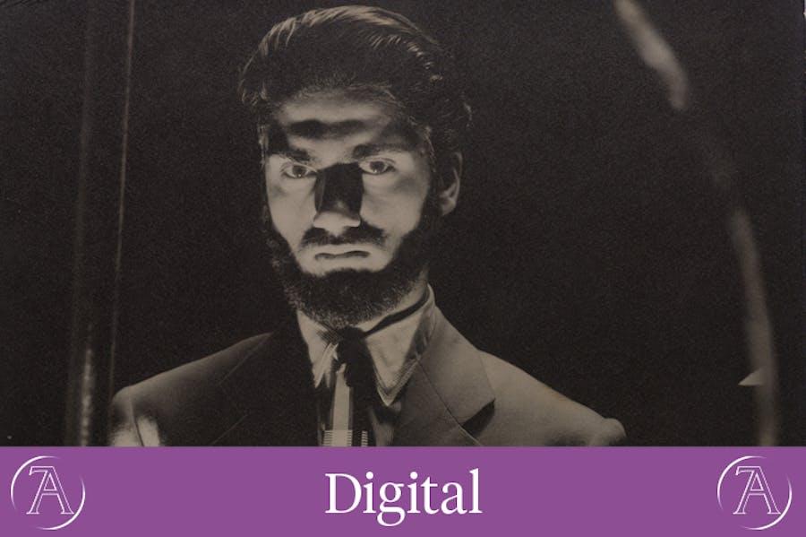 Self-portrait (detail; 1942), Van Leo. Van Leo Collection at the Arab Image Foundation, Beirut