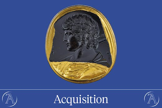 Intaglio with bust of Antinous (131–38 AD), Italy or Greece
