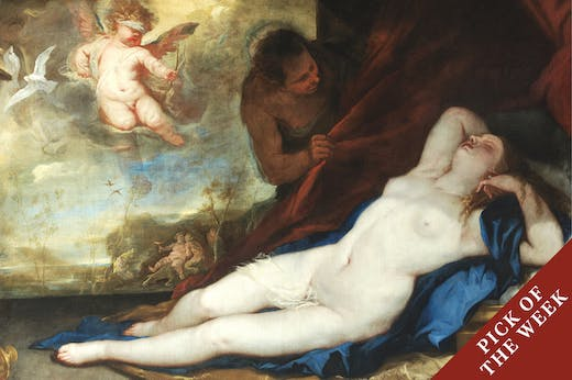 Sleeping Venus with Cupid (c. 1670), Luca Giordano and Satyr