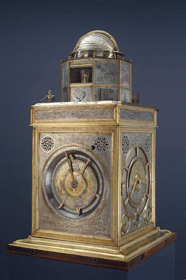 Astronomical Display Clock of Otto Henry, Elector Palatine (1554–1561), Philipp Imser, with Gehard Emmoser.