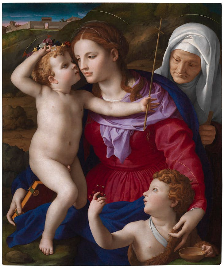 Virgin and Child with St Elizabeth and St John the Baptist (c. 1540–45), Agnolo Bronzino. J. Paul Getty Museum, Los Angeles