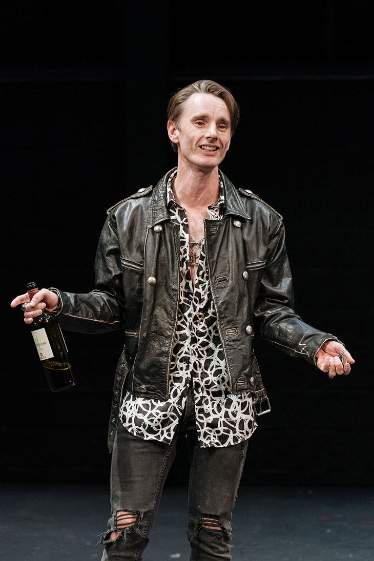 Dickie Beau as Sandro Botticelli in Botticelli in the Fire at Hampstead Theatre, London, 2019.