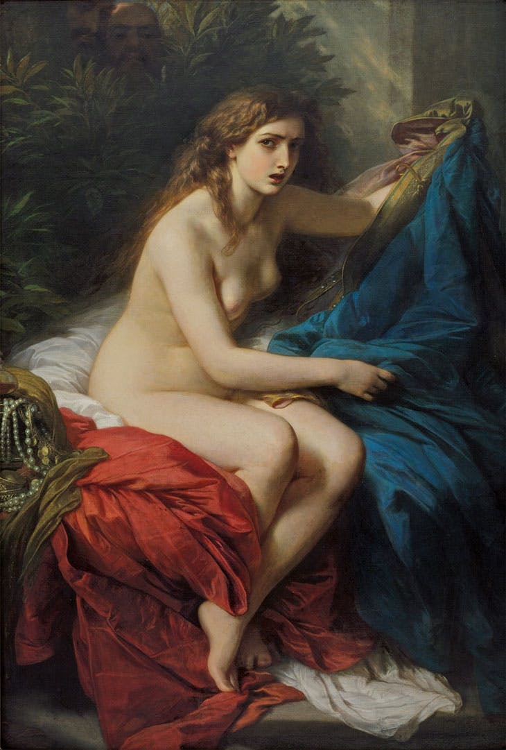 Susanna and the Elders (detail; 1866), Franz Xaver Winterhalter. Frye Art Museum, Seattle.