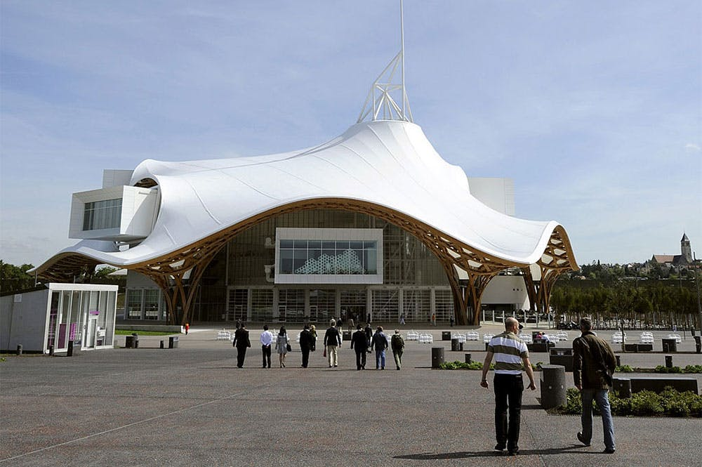 The exterior of the Centre Pompidou-Metz, photographed in 2010.