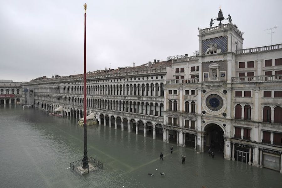 Flooding in St Mark's Square, Venice, on 13 November 2019.