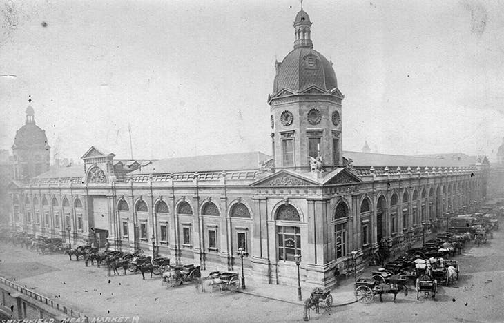Smithfield Market, designed by Horace Jones and opened in 1868 (photo: 1870). Photo: Hulton Archive