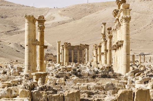 The ancient city of Palmyra, photographed in 2017.