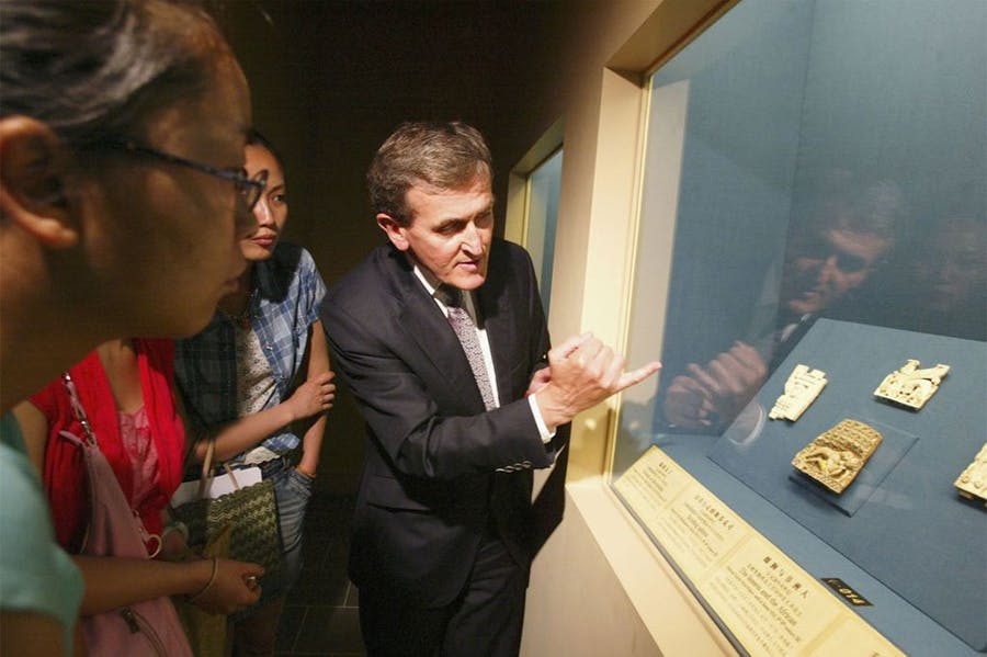 Neil MacGregor, then director of the British Museum, at 'Art and Empire: Treasures from Assyria in the British', an exhibition at the Shanghai Museum in 2006.