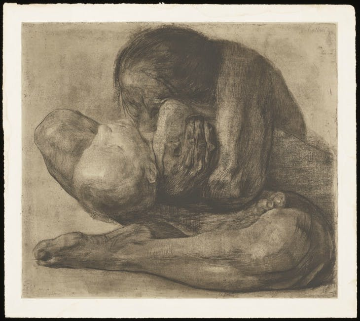 Woman with Dead Child (1903), Käthe Kollwitz.