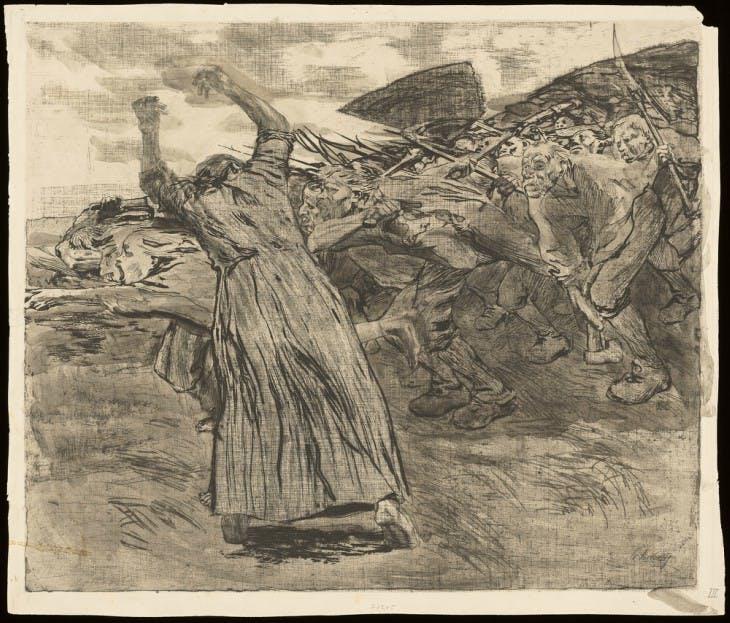 Charge (1902-1903), Käthe Kollwitz.