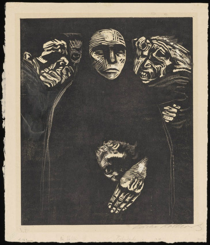 The People (1922), Käthe Kollwitz.