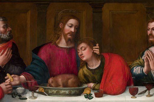 Last Supper (detail; c. 1560s), Plautilla Nelli.