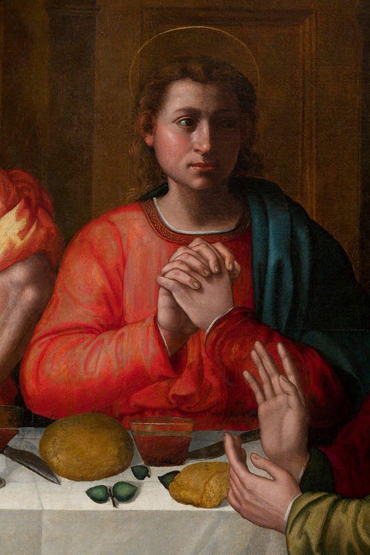 Last Supper (detail; c. 1560s), Plautilla Nelli. Museo di Santa Maria Novella, Florence.
