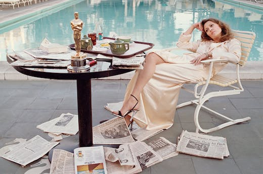 Faye Dunaway at the Beverly Hills Hotel, 29th March 1977 (detail).