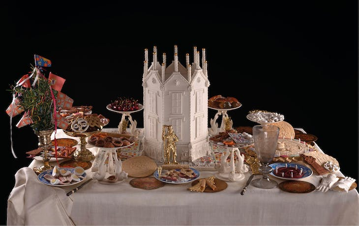 Recreation of an English Renaissance sugar banquet for a wedding in c. 1610, conceived and made by Ivan Day