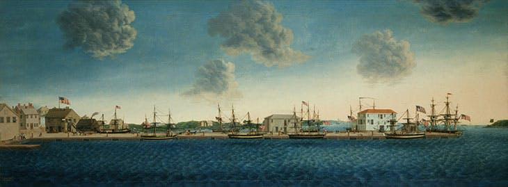 Crowninshield's Wharf (1806), George Ropes. Peabody Essex Museum, Salem