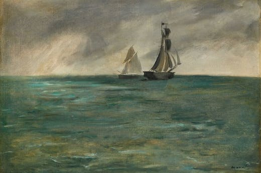 Édouard Manet, Stürmische See (Ships at Sea in Stormy Weather, 1873)
