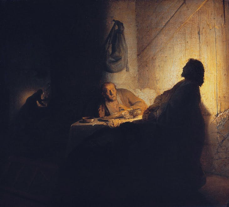 The Supper at Emmaus (c. 1628), Rembrandt van Rijn.