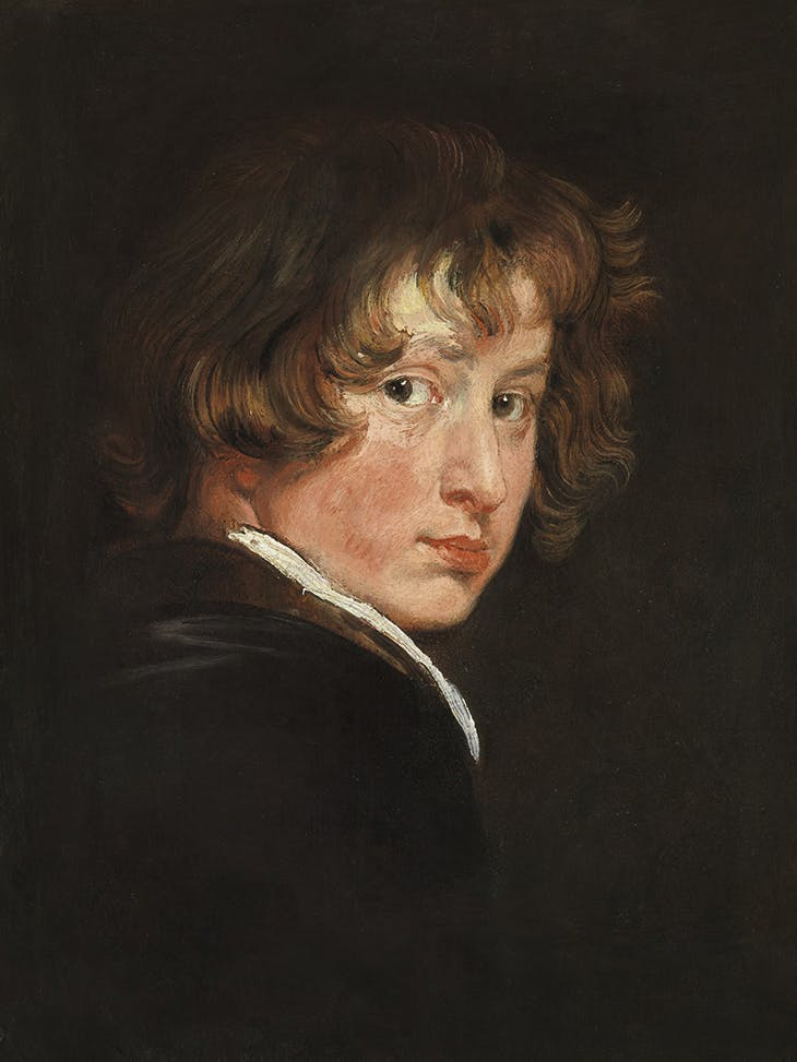 Self-portrait (detail; c. 1615), Anthony van Dyck. Academy of Fine Arts, Picture Gallery, Vienna