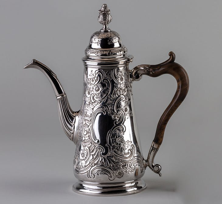 Coffee pot (c. 1760), Coline Allan of Aberdeen.