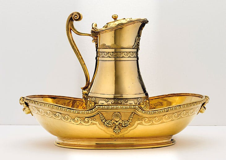 Silver-gilt ewer and basin from the toilet service of Charlotte-Aglaé d'Orléans, duchess of Modena (1719), attributed to Nicolas Besnier.