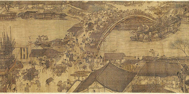 Along the River during the Qingming Festival (detail; 12th century), Zhang Zeduan. Palace Museum, Beijing