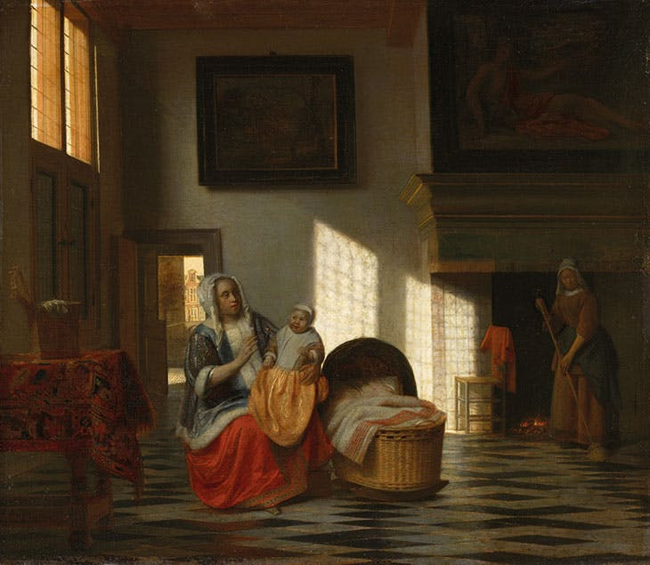 Interior with Mother and Child (c. 1665–68), Pieter de Hooch. Amsterdam Museum
