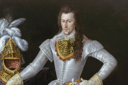 Henry Wriothesley, 3rd Earl of Southampton (1573–1624) (detail; c. 1593–97), unknown artist.