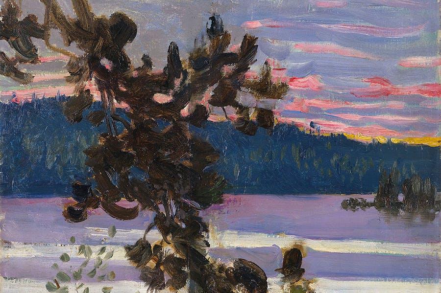 A lake view (1905), Akseli Gallen-Kallela.