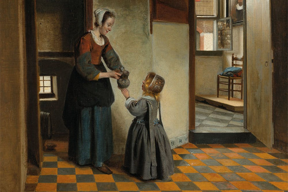 Woman with a Child in a Pantry (detail; c. 1656–60), Pieter de Hooch. Rijksmuseum, Amsterdam