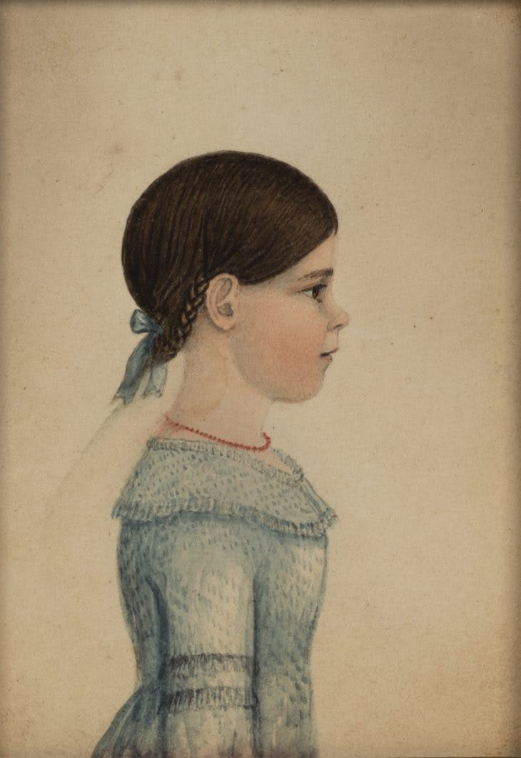 Martha Swan Flagg (c. 1830), attributed to Rufus Porter.