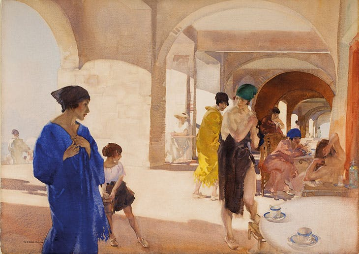The Bathers' Arcade (c. 1922), William Russell Flint.