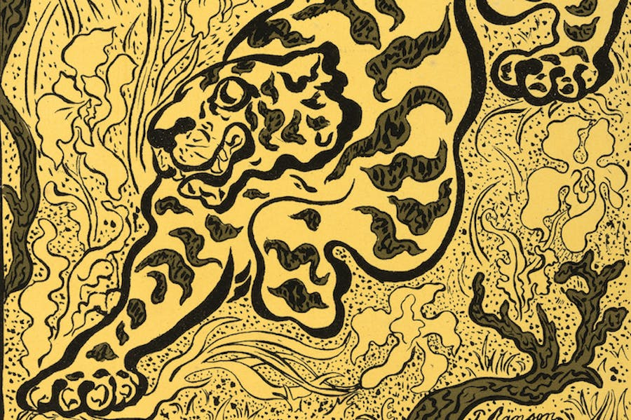 Tiger in the Jungle (detail; 1893), Paul Elie Ranson.