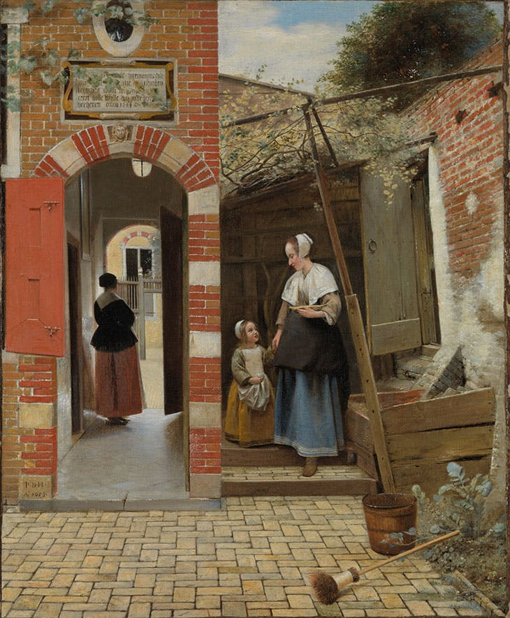 The Courtyard of a House of Delft (1658), Pieter de Hooch. National Gallery, London