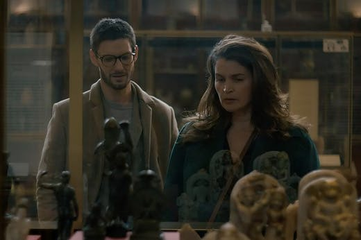 Julia Ormond as Julia and Ben Barnes as Benjamin in Gold Digger.