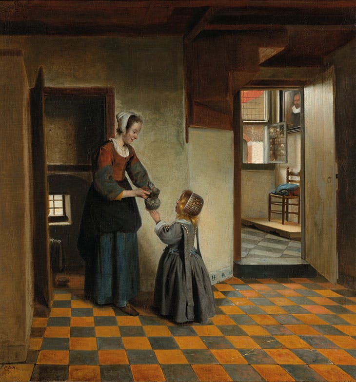 Woman with a Child in a Pantry (c. 1656–60), Pieter de Hooch. Rijksmuseum, Amsterdam