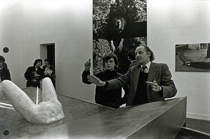 Valie Export with her installation for the Austrian Pavilion of the Venice Biennale in 1980