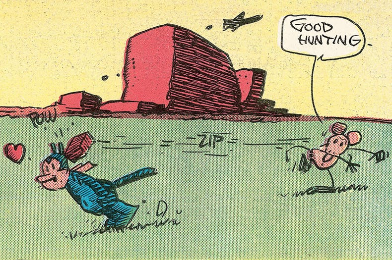 George Herriman's Krazy Kat, a detail of the Sunday page from 6 March 1938