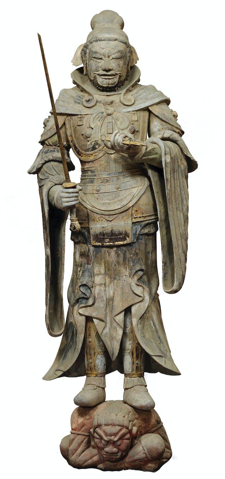 Jikokuten (Dhrtarastra) (7th century), Nara, Japan.