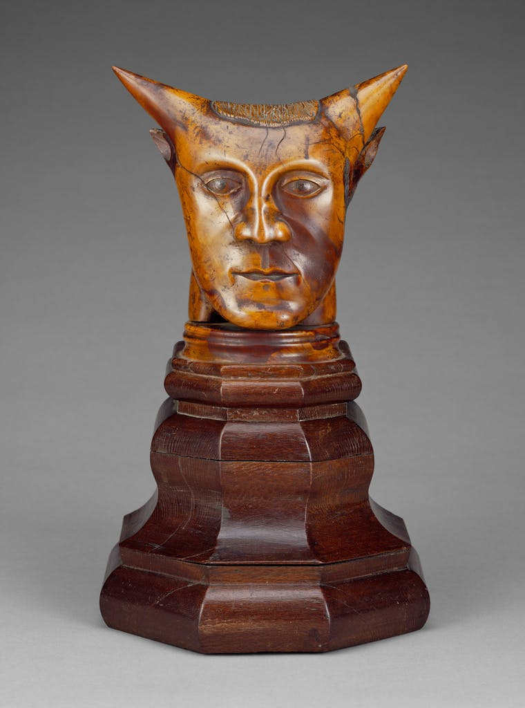 Head with Horns (before 1894), artist unknown. J. Paul Getty Museum, Los Angeles