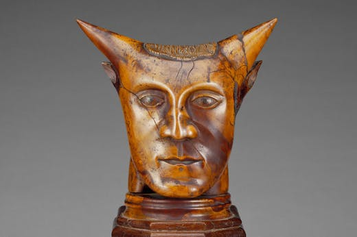 Head with Horns (detail; before 1894), artist unknown. J. Paul Getty Museum, Los Angeles