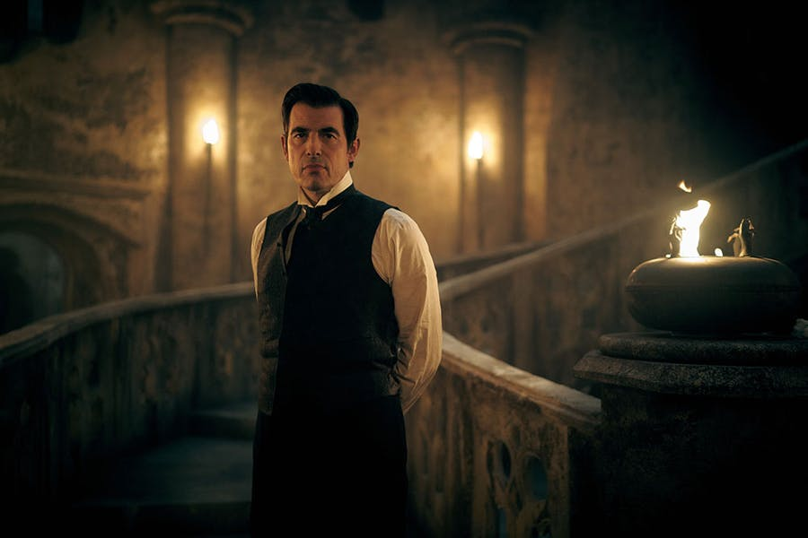 Claes Bang as Dracula.
