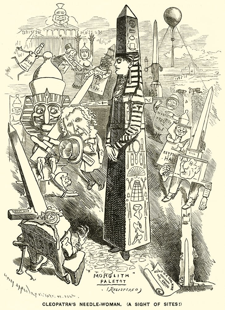 Cleopatra's Needle-Woman, (A Sight of Sites),                published in Punch, 3 November, 1877. Photo: © Look and                Learn/George Collection/Bridgeman Images