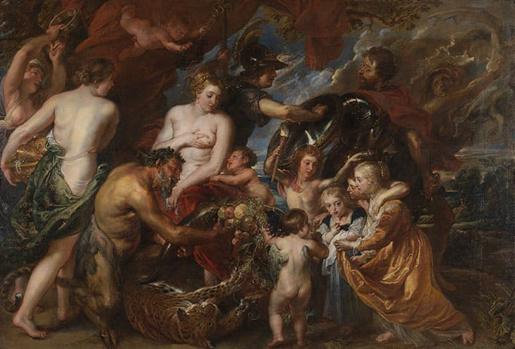 Minerva Protects Pax from Mars ('Peace and War') (1629–30), Peter Paul Rubens. National Gallery, London