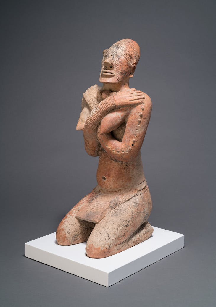Kneeling Female Figure with Crossed Arms (12–14th century), Middle Niger civilisation, Mali.