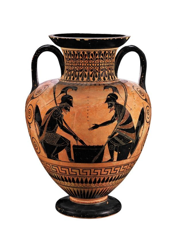 Black-figure amphora (c. 530–520 BC), attributed to the Lysippides Painter, Greek, Attic. The British Museum, London. Photo: © The Trustees of the British Museum, London