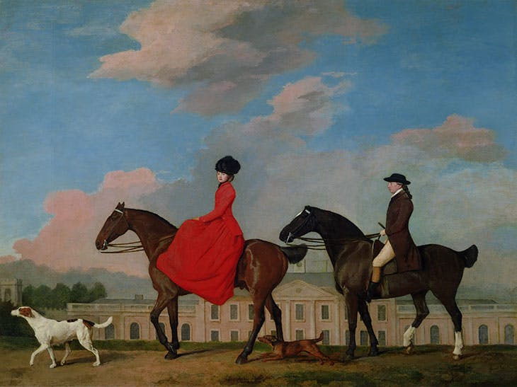 John and Sophia Musters Riding Past the South Front of Colwick Hall (1777), George Stubbs