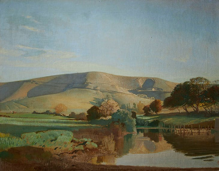 Ditchling Beacon (c. 1930), Charles Knight. Towner Art Gallery, Eastbourne.