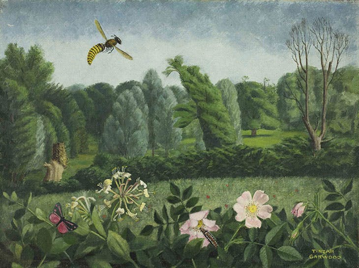 Hornet with Wild Roses (1950), Tirzah Garwood. Towner Collection, Eastbourne.
