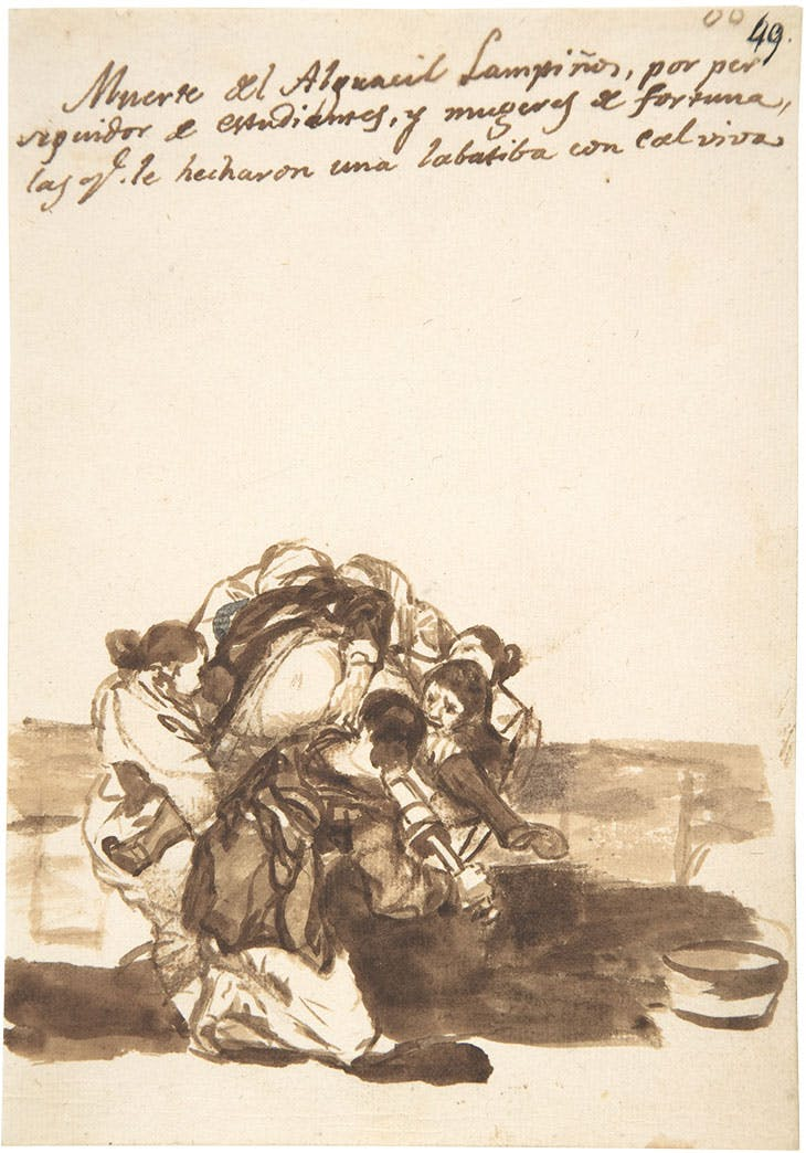 Death of the constable Lampiños […] (1812–20), Francisco de Goya. Metropolitan Museum of Art, New York